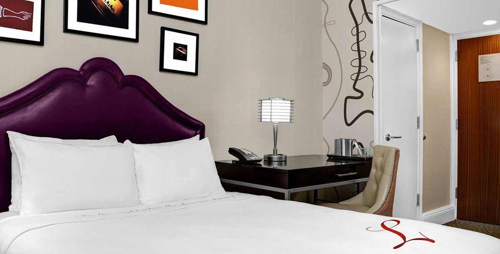 Votre Queen Room vous promettra des moments au calme...