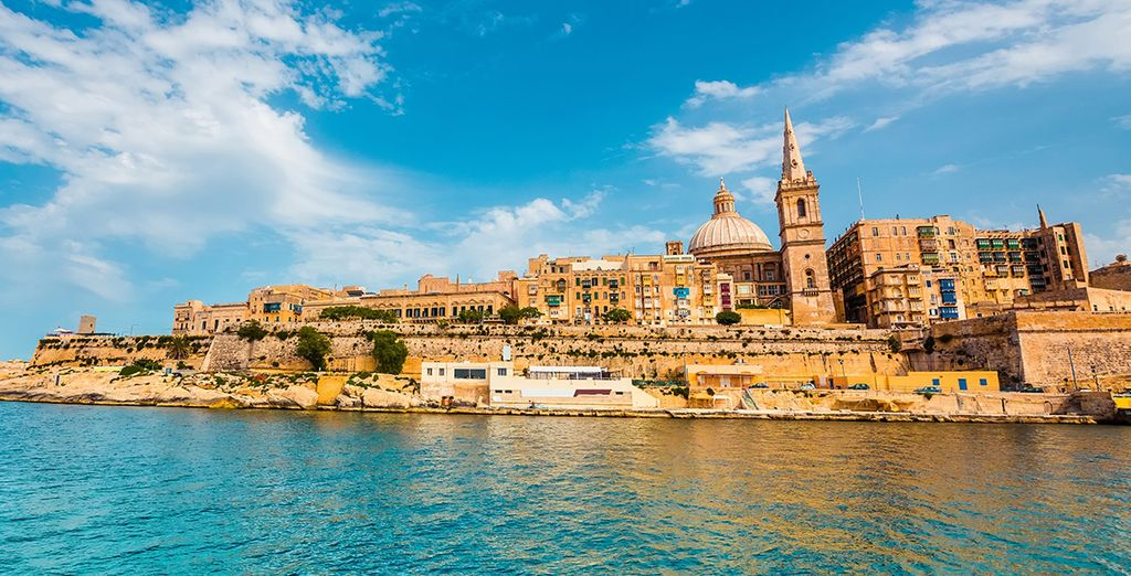 Photographie de la capitale de la ville de Malte, La Valette