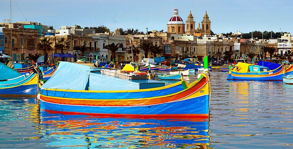 Photographie de Malte et du port de la Valette