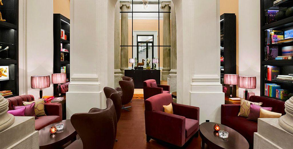 Hôtel de charme cinq étoiles avec salon et espace détente à Vienne