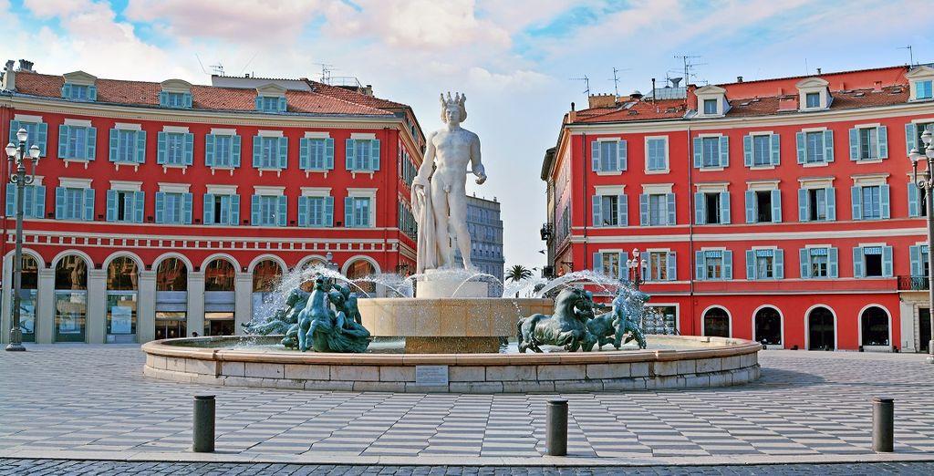 Photographie du quartier du vieux Nice
