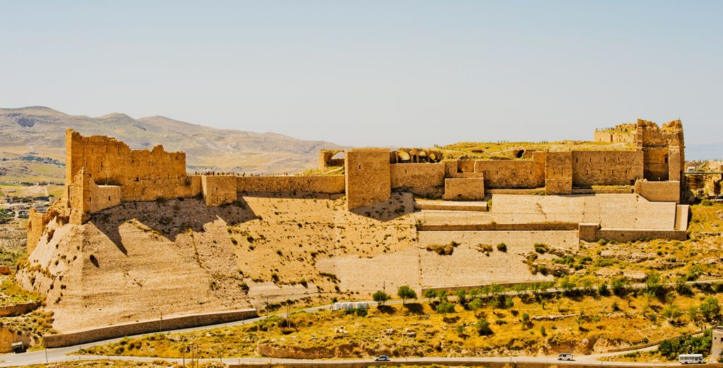Le château fort des croisades de Kerak en Jordanie