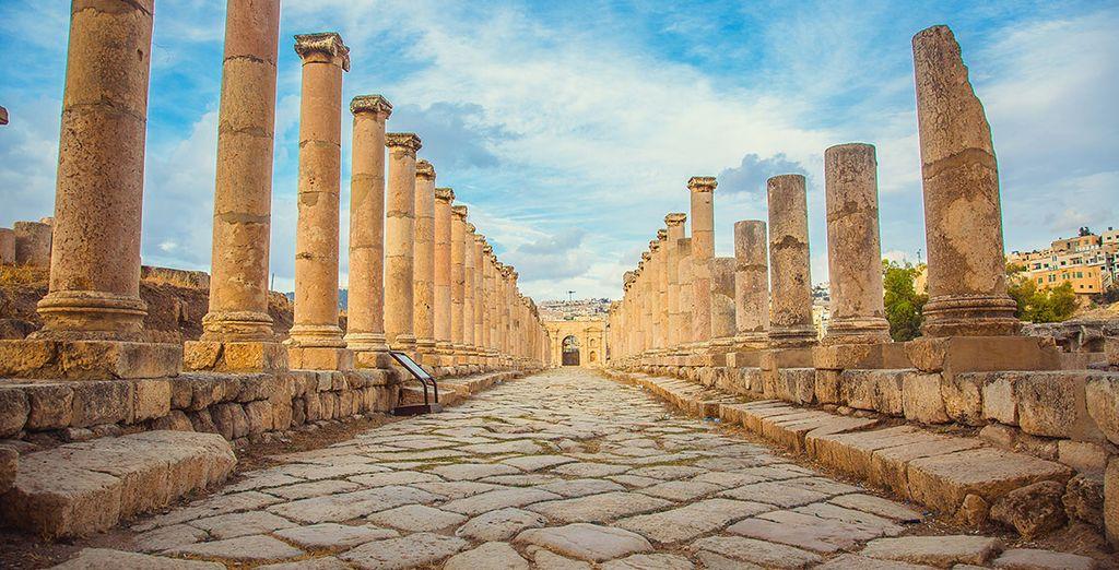 Visitez les ruines romaines de Jerash en Jordanie avec les voyages pas cher de Voyage Privé
