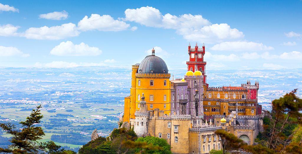Le splendide panorama de la ville de Sintra au Portugal