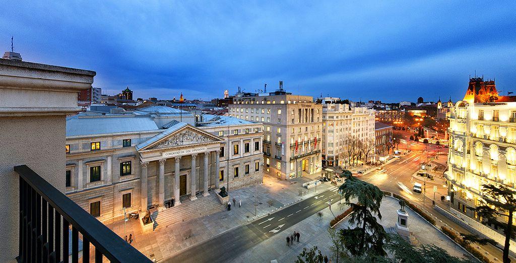 L'hôtel, en plein cœur de Madrid, sera le point de départ idéal