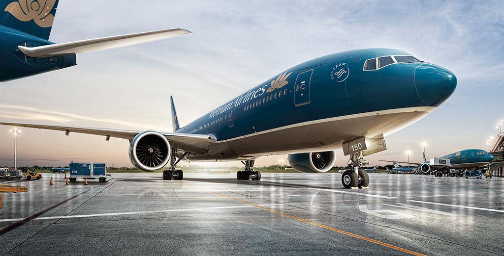 Choisissez de vous envoler avec Vietnam Airlines en option avec supplément