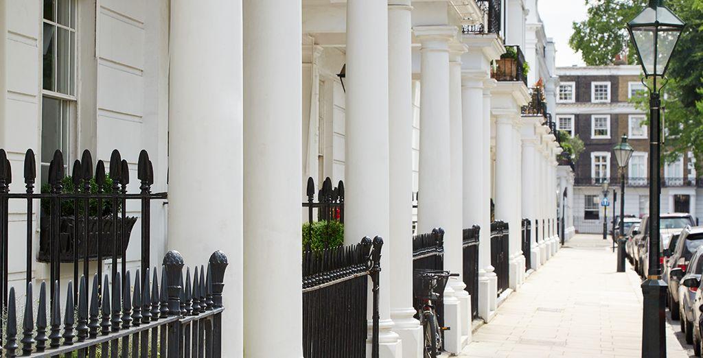 Rendez-vous dans l'un des quartiers les plus chics de Londres...