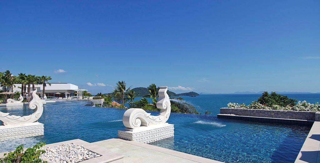 Pour ceux qui préfèrent la piscine, l'hôtel en est pourvu...