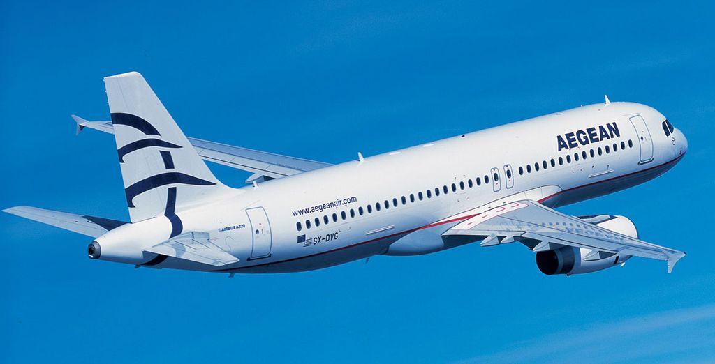 Choisissez de vous envoler à bord d'un avion de la compagnie Aegean Airlines