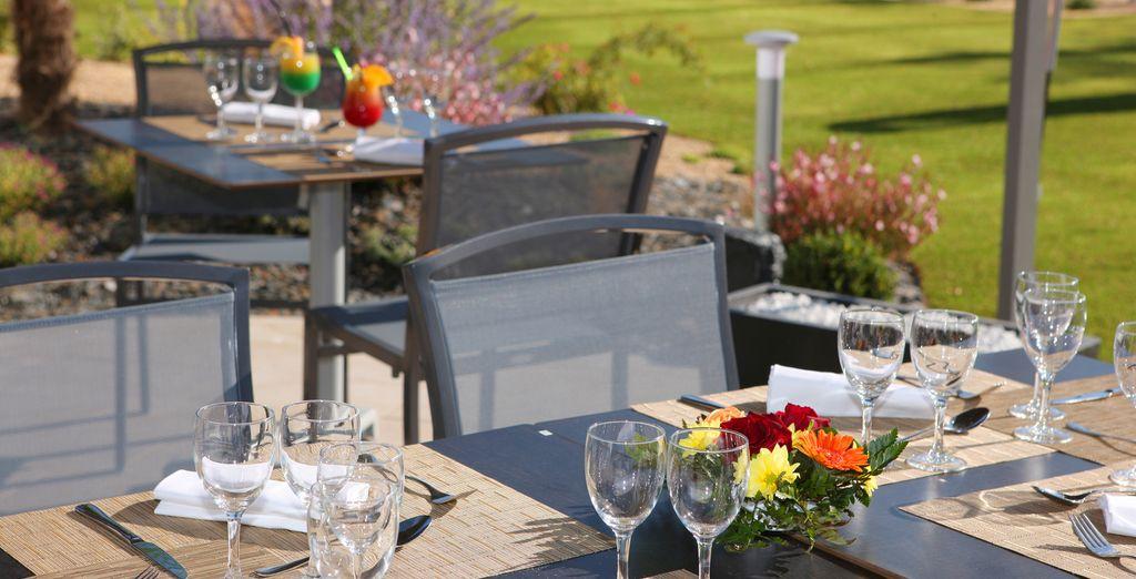 Ou bien en terrasse, pour un déjeuner ensoleillé !