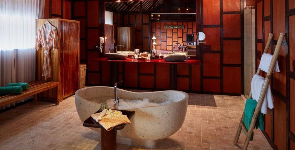 Qui dispose d'une magnifique salle de bain