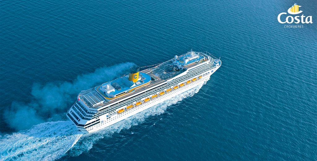 Vous embarquerez à bord du Costa Magica