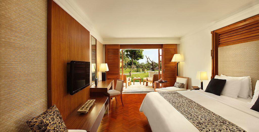 Ou pour encore plus de confort, choisissez l'option Palace Club Room offrant de nombreux avantages