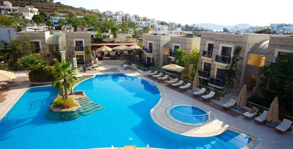 Profitez d'un bain de soleil dans la magnifique piscine, ou