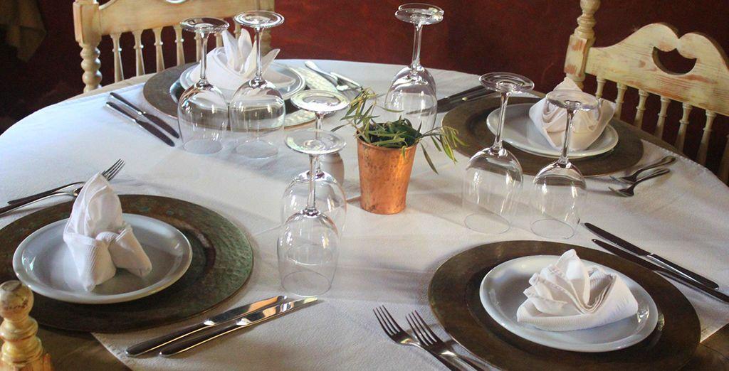 Vous goûterez à la cuisine d'une des meilleures tables de Tunisie...