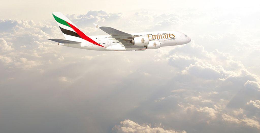 En option et avec supplément, craquez pour la classe Affaires Emirates