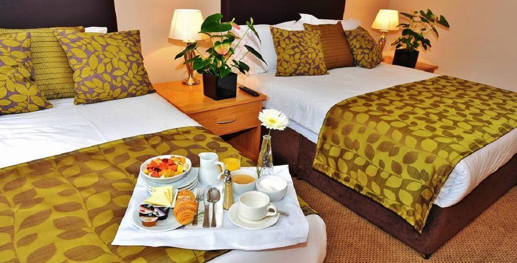 Hôtel haut de gamme à Dublin, chambre double familiale tout confort