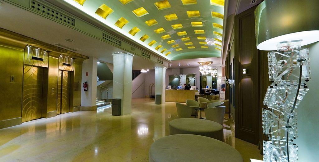 Un confortable hôtel, aux accents design et moderne