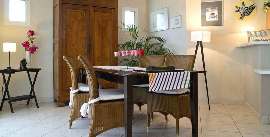 La salle à manger pour partager un délicieux repas breton !