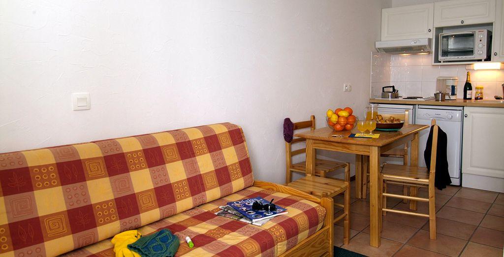 Dans des appartements confortables et parfaitement équipés