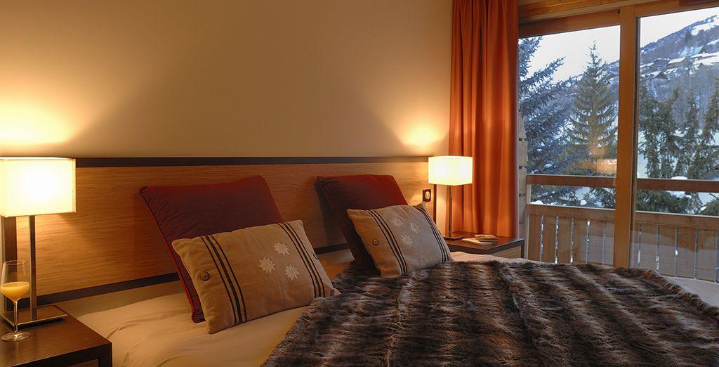 Et des chambres chaleureuses...