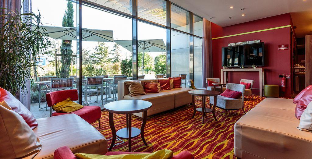 Confortablement installé au Coutyard by Marriott Toulouse Airport 4*