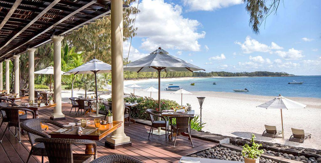 Hôtel de charme avec restaurant gastronomique offrant une magnifique vue sur l'océan Indien à l'Île Maurice