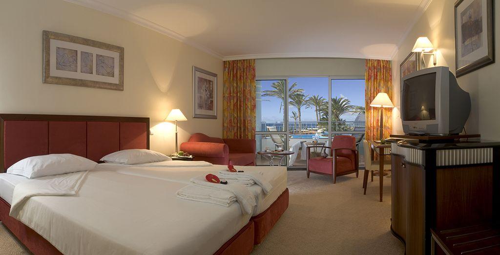 Votre logement en chambre avec vue sur l'océan vous promet de superbes matins