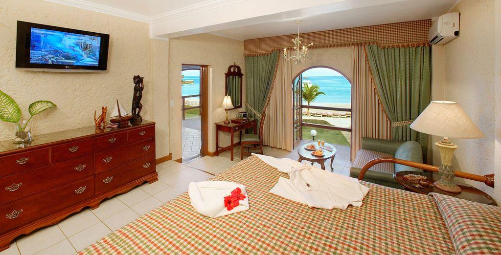 Votre chambre avec vue sur la mer des Caraïbes