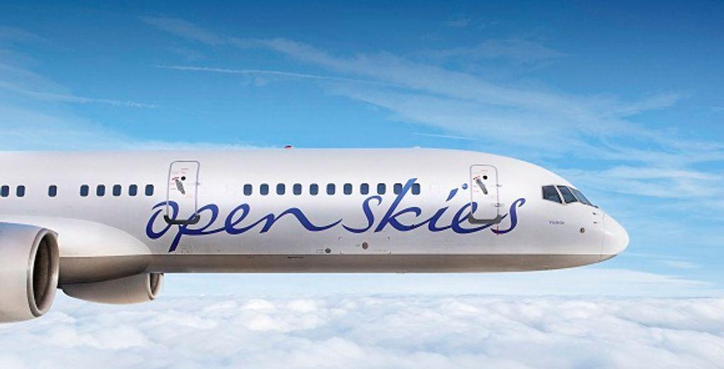 L'avion de la compagnie OpenSkies