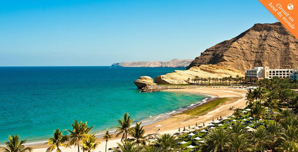 Entre paysages balnéaires sublimes... - Circuit Oman l'essentiel entre mer, montagnes et déserts en hôtels 4* + vols en 5jours/4nuits ou 7 jours/6 nuits+ extension possible à Mussanah 2 nuits Mascate