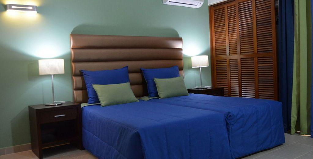 Vous vous y installerez en confortable chambre Standard