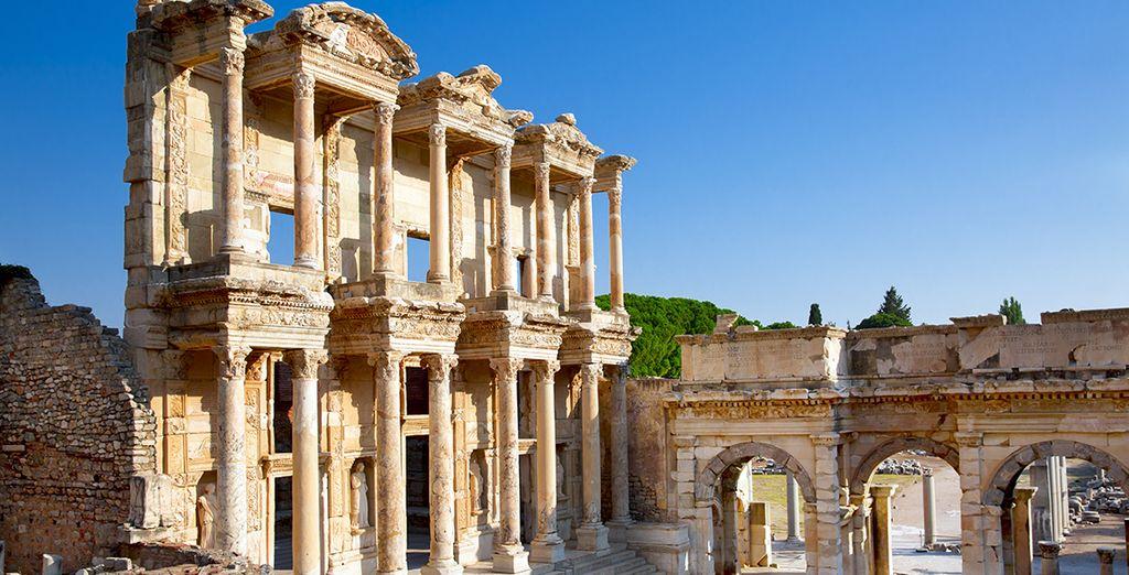 La prestigieuse Ephèse sur la côte Turque d'Izmir...