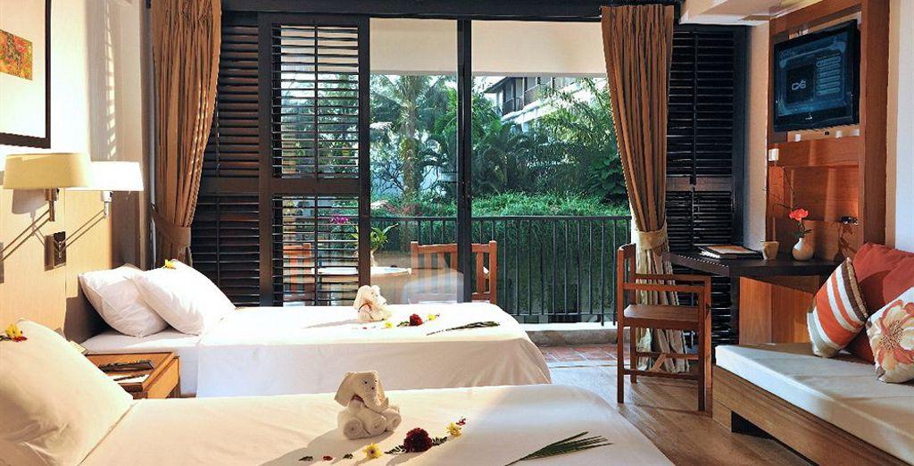 Du côté de Phuket, c'est en chambre Supérieure que vous prenez place