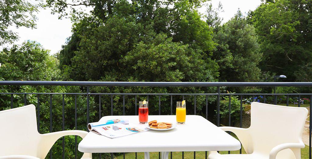 Chaque matin, prenez un bol d'air pur sur votre balcon ou rez-de-jardin