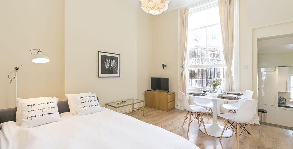 Appartement 1 : La canapé-lit dans le salon