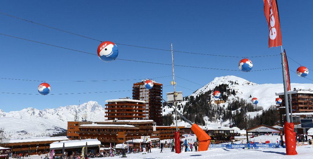 Située sur le front de neige de la Plagne Centre - 1970 mètres