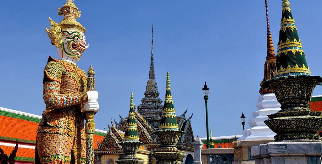 Dont le Grand Palais de Bangkok et le temple du Bouddha d'Émeraude