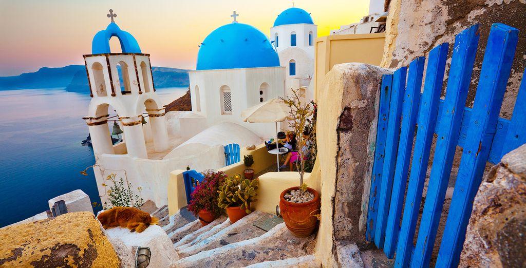 Découvrez deux iles grecques iconiques... - Combiné Santorini Palace 4* & Relux Ios 4* Santorin