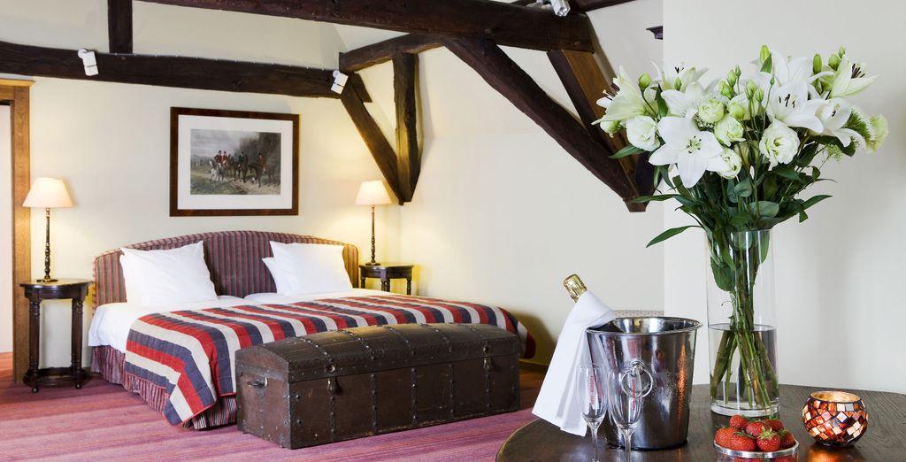 La Grande chambre est tout aussi confortable...