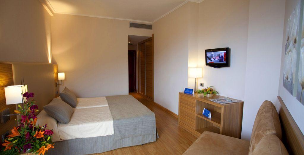 Vous apprécierez ses chambres spacieuses et fonctionnelles - Hôtel Luabay Tenerife 4* Puerto La Cruz