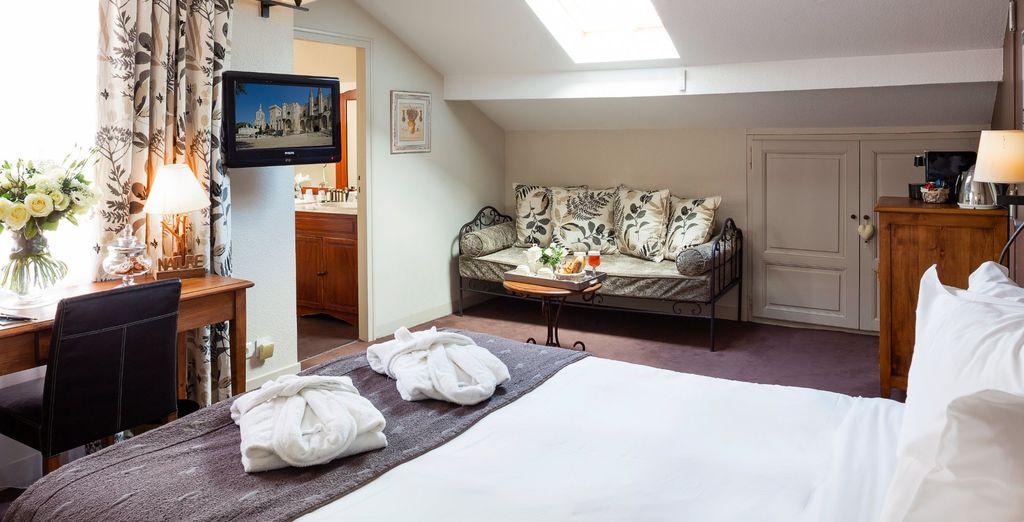 Pour un confort ultime, vous pourrez poser vos valises dans la Suite, lumineuse et atypique !