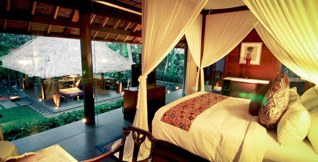 Une belle chambre donnant sur la nature...
