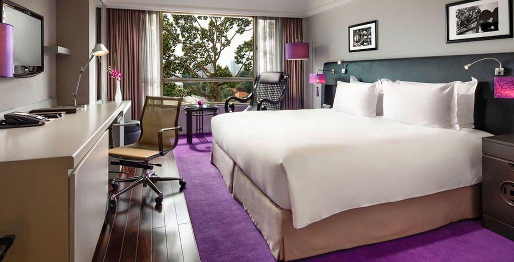 En chambre supérieure à l'hôtel Sofitel Plaza à Saigon