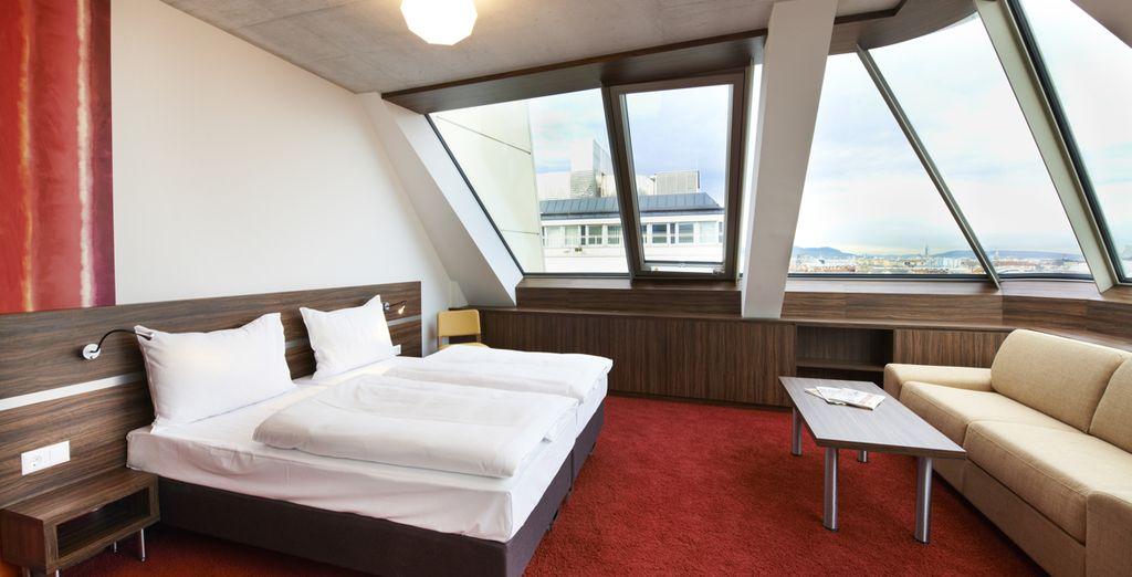 Hôtel haut de gamme tout confort avec vue panoramique sur la ville de Vienne