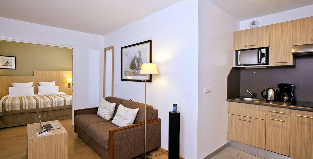 Ou en appartement 1 chambre pour 3...