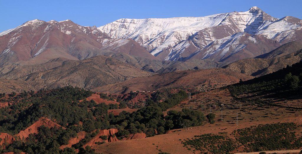 Partez au sommet de l'atlas au Maroc