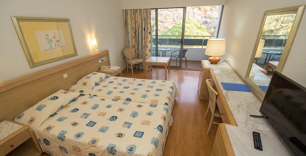 Confortablement installé en chambre Standard Vue Montagne