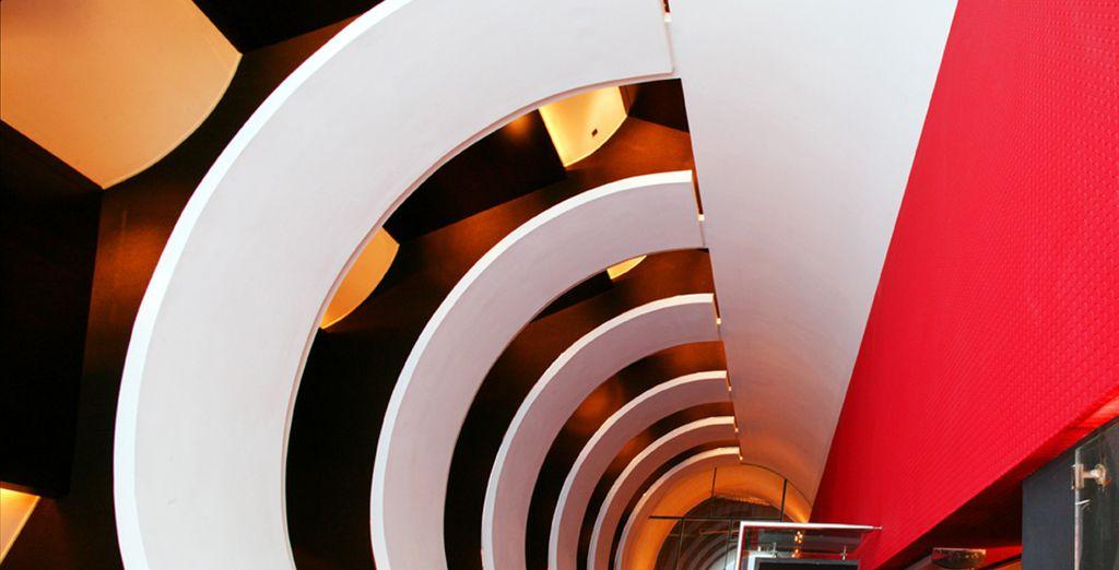 Vous séjournerez dans un hôtel design...