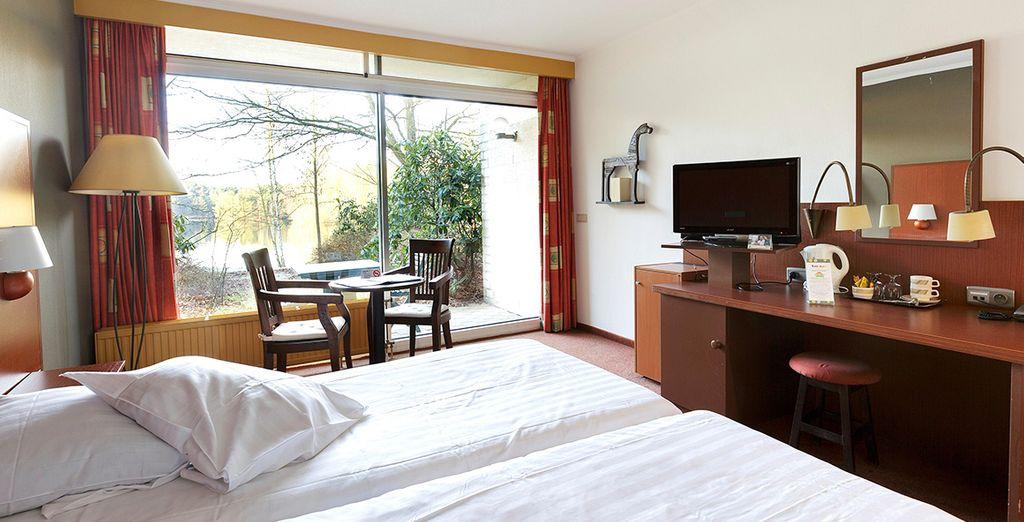 Installez-vous dans la chambre d'hôtel Premium du Parc